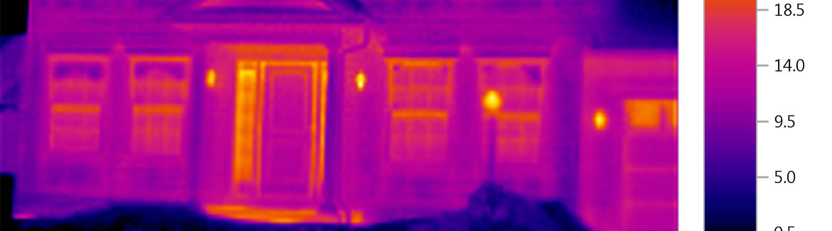 Infrared scan of exterior of home