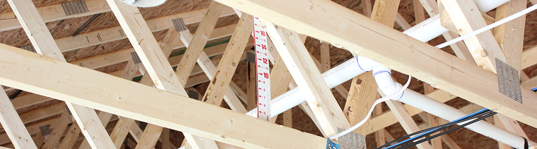 Attic framing during construction