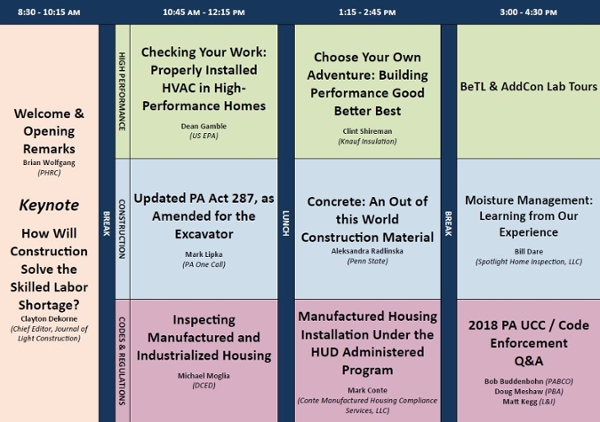 Housing Conference Agenda